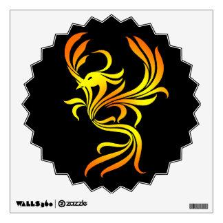 Fire Phoenix on Black Wall Decal