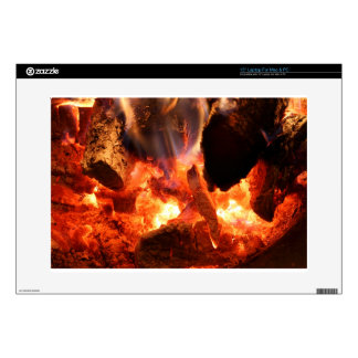 """Fire Pit and Smoldering Embers 15"""" Laptop Decals"""