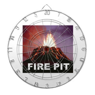 fire pit art dartboard