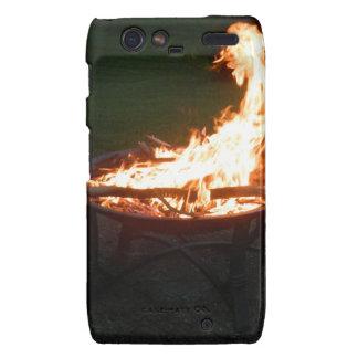 Fire pit bonfire image motorola droid RAZR case