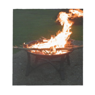 Fire pit bonfire image notepad