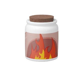 Fire Pit Candy Jar