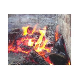 Fire Pit Canvas Print