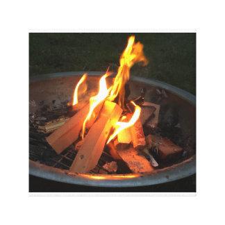 Fire pit canvas canvas print