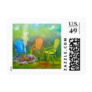 Fire pit postage stamp
