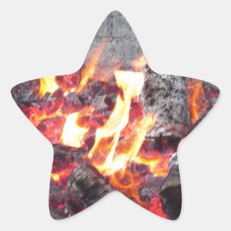 Fire Pit Star Sticker