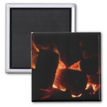 Fire Pit Warm Orange and Black Winter Photography Magnet