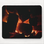 Fire Pit Warm Orange and Black Winter Photography Mouse Pad