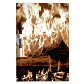 Fire Place Dry-Erase Board