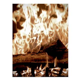 Fire Place Postcard
