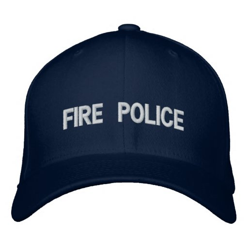 FIRE POLICE EMBROIDERED HAT