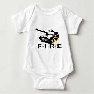Fire Power Military Canon Baby Bodysuit