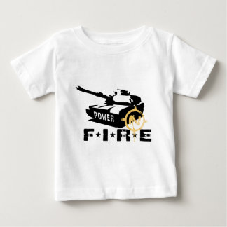 Fire Power Military Canon Baby T-Shirt