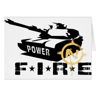 Fire Power Military Canon Card