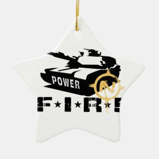Fire Power Military Canon Ceramic Ornament