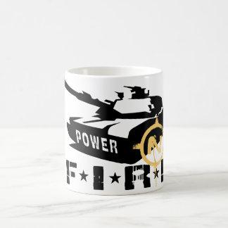 Fire Power Military Canon Classic White Coffee Mug