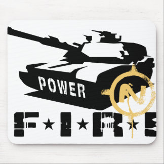Fire Power Military Canon Mouse Pad
