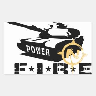 Fire Power Military Canon Rectangular Sticker