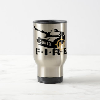 Fire Power Military Canon Travel Mug