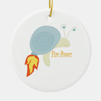 Fire Power Double-Sided Ceramic Round Christmas Ornament