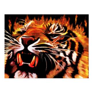 Fire Power Tiger Postcard