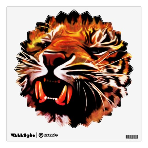 Fire Power Tiger Wall Decals