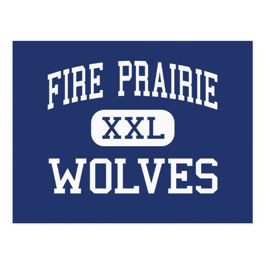Fire Prairie Wolves Middle Independence Postcard