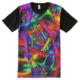Fire Psychedelic Abstract Fine Fractal All-Over Print T-shirt