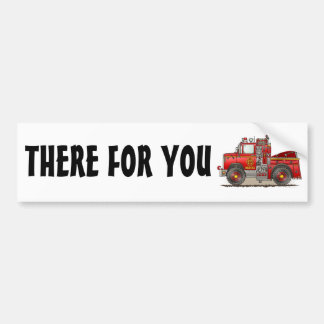 Fire Pumper Rescue Truck Bumper Sticker TFY