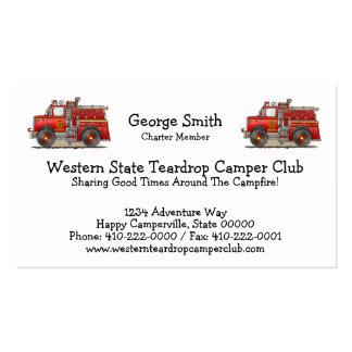 Fire Pumper Rescue Truck Business Card