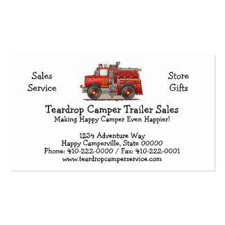 Fire Pumper Rescue Truck Business Card Templates
