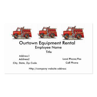 Fire Pumper Rescue Truck Business Cards