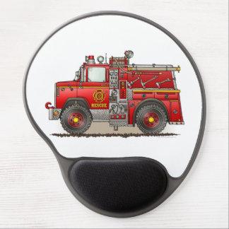 Fire Pumper Rescue Truck Gel Mouse Pad