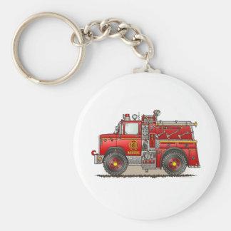 Fire Pumper Rescue Truck Keychain