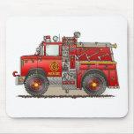 Fire Pumper Rescue Truck Mouse Pad