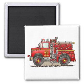 Fire Pumper Rescue Truck Square Magnet