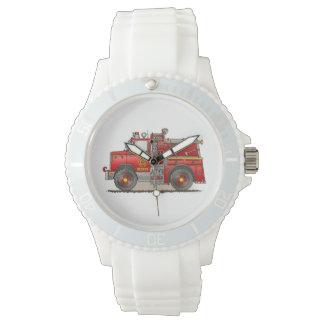 Fire Pumper Rescue Truck Wrist Watches