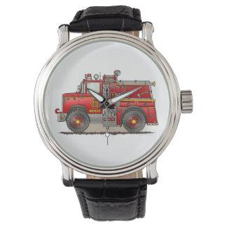 Fire Pumper Rescue Truck Wristwatches
