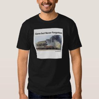 Fire rages along NJ boardwalk damaged by Sandy T-shirt