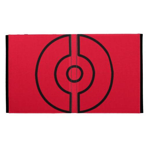 Fire Red Case iPad Folio Cases