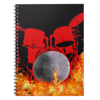 Fire Red Drums Notebook