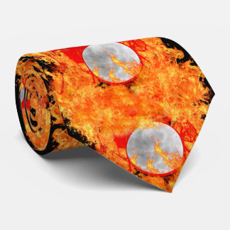 Fire Red Drums Tie