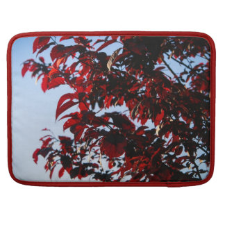 Fire Red Leaves Sleeve For MacBooks