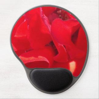 Fire Red Petals Gel Mousepad