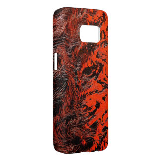 fire red ripples texture samsung galaxy s7 case