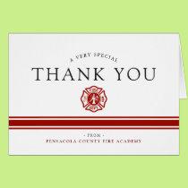 Fire Rescue Academy Custom Congrats Card