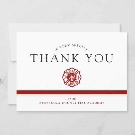 Fire Rescue Academy Custom Thank You Card