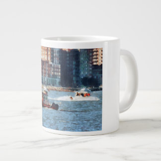 Fire Rescue Boat Hudson River Giant Coffee Mug