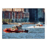 Fire Rescue Boat Hudson River Greeting Card