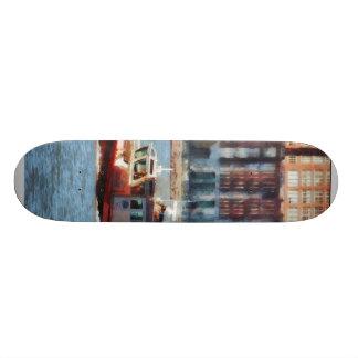 Fire Rescue Boat Hudson River Skateboard Deck